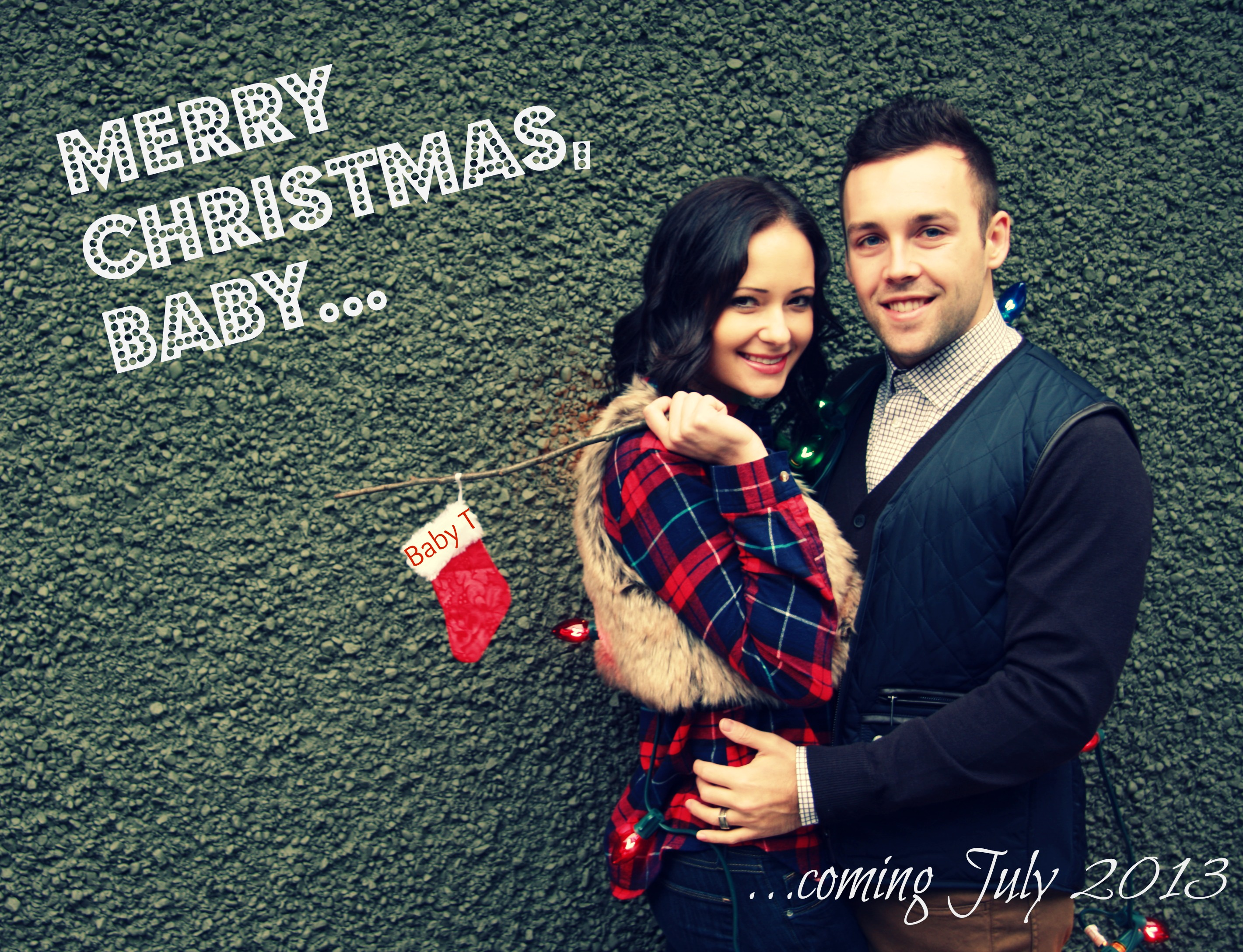 14 weeks – Cute Christmas Baby Announcements